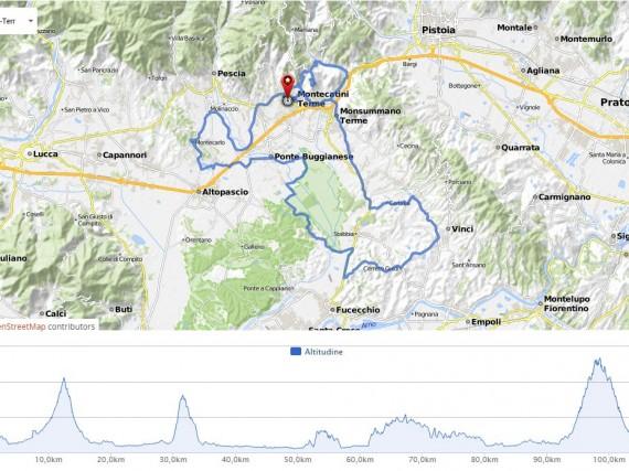 Granfondo Montecatini Terme 2016: percorso classic