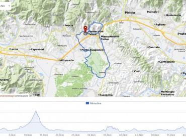 Granfondo Montecatini Terme 2016: percorso light