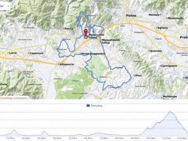 Granfondo Montecatini Terme 2016: percorso marathon